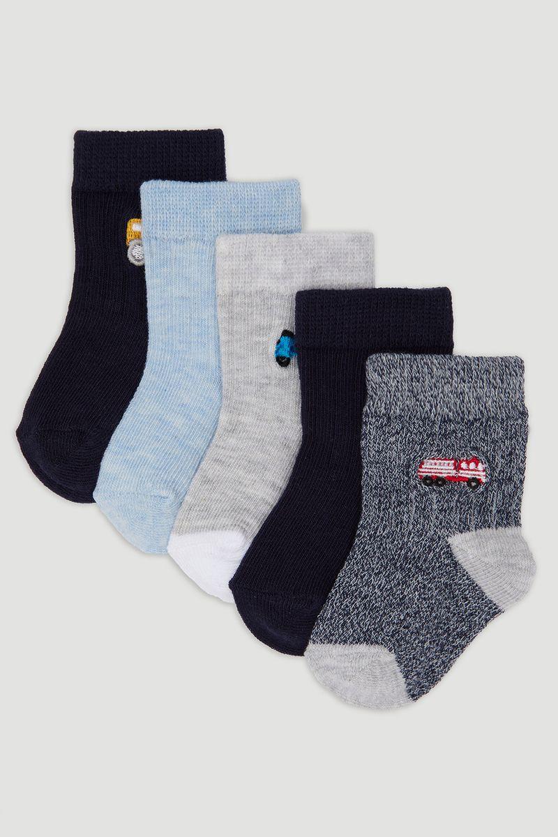 5 Pack Navy Bus Rib Socks