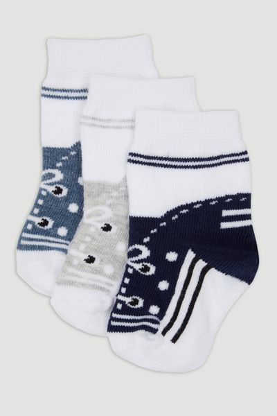 3 Pack Trainer Design Socks