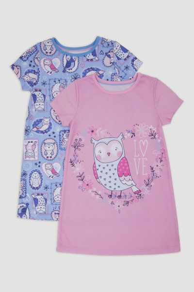 2 Pack Owl Forest Nighties