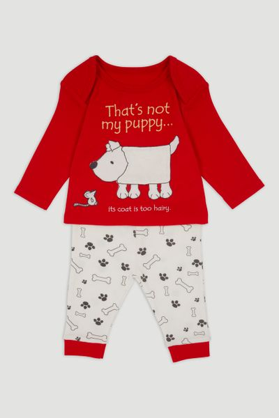 Red That's Not My Puppy Pyjamas