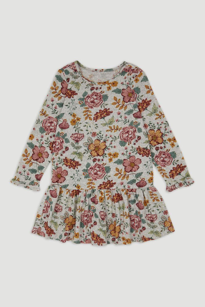 Flower Soft Knitted Dress