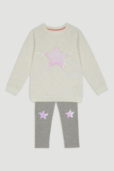 Sequin Star Sweatshirt & Leggings