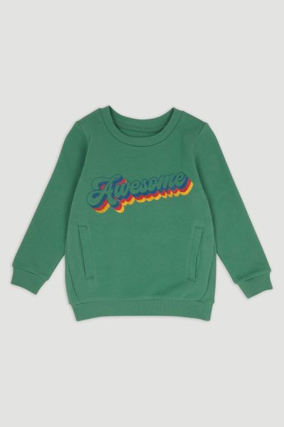 Green Awesome Slogan Sweatshirt