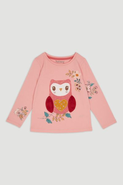 Pink Owl Long Sleeve t-Shirt
