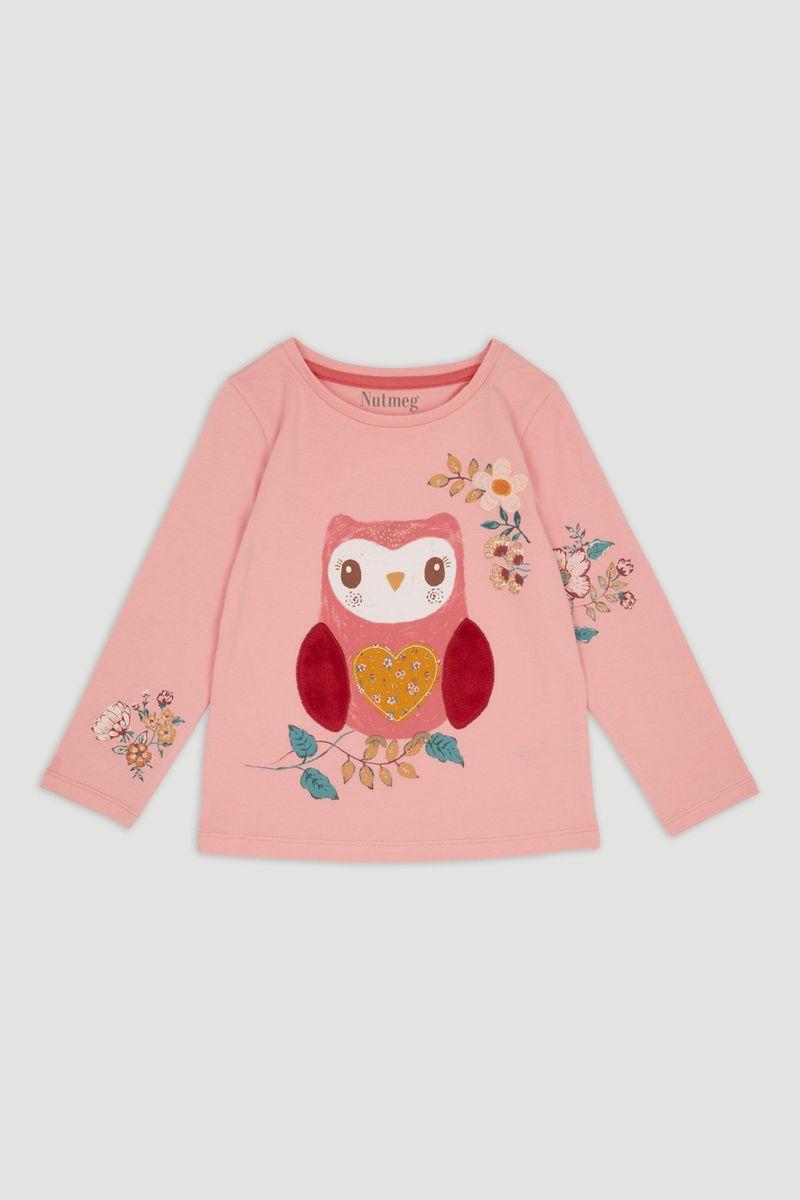 Pink Owl Long Sleeve t-Shirt