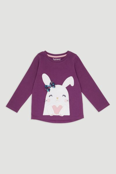 Purple Bunny Long Sleeve T-Shirt