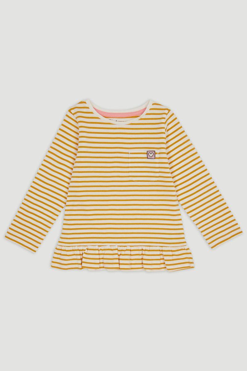 Mustard Stripe Long Sleeve T-Shirt