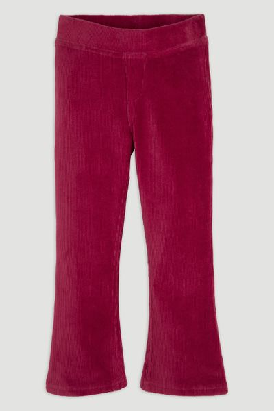 Pink Flared Velour Leggings