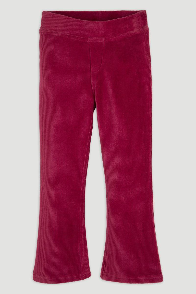 Pink Flared Velour Leggings