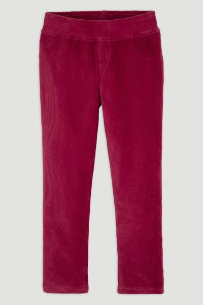 Burgundy Velour Leggings