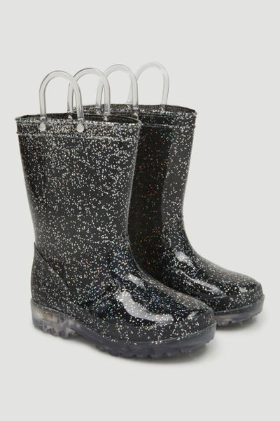 Light Up Glitter Wellies
