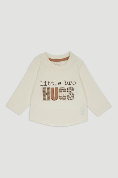 Little Bro Hugs Applique T-Shirt