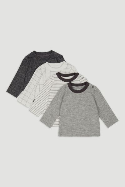 4 Pack Long Sleeve Stripe T-Shirts