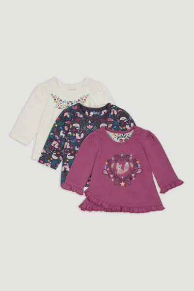 3 Pack Woodland Print T-Shirts