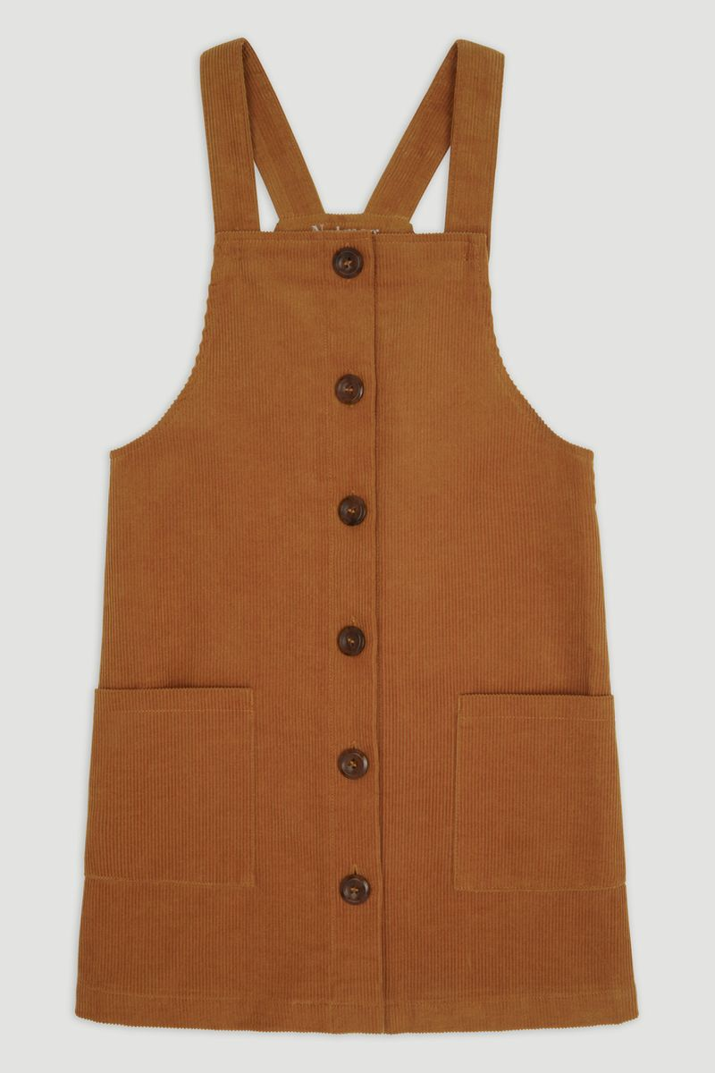 Tan Cord Pinafore Dress 3-14yrs