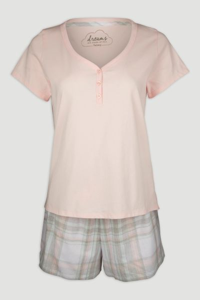 Peach Check Pyjamas