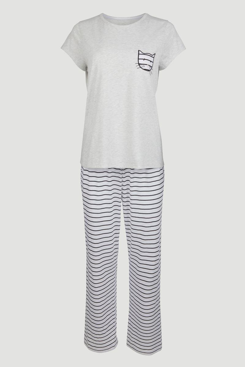 Cat Print Pyjamas