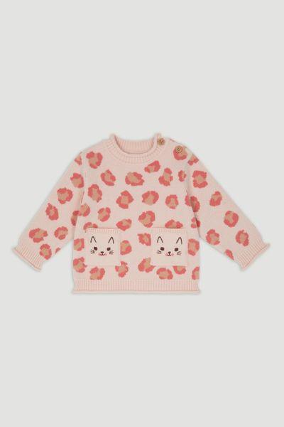 Pink Leopard Pocket Jumper