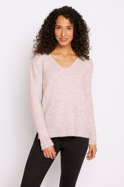 V-neck Pink Jumper