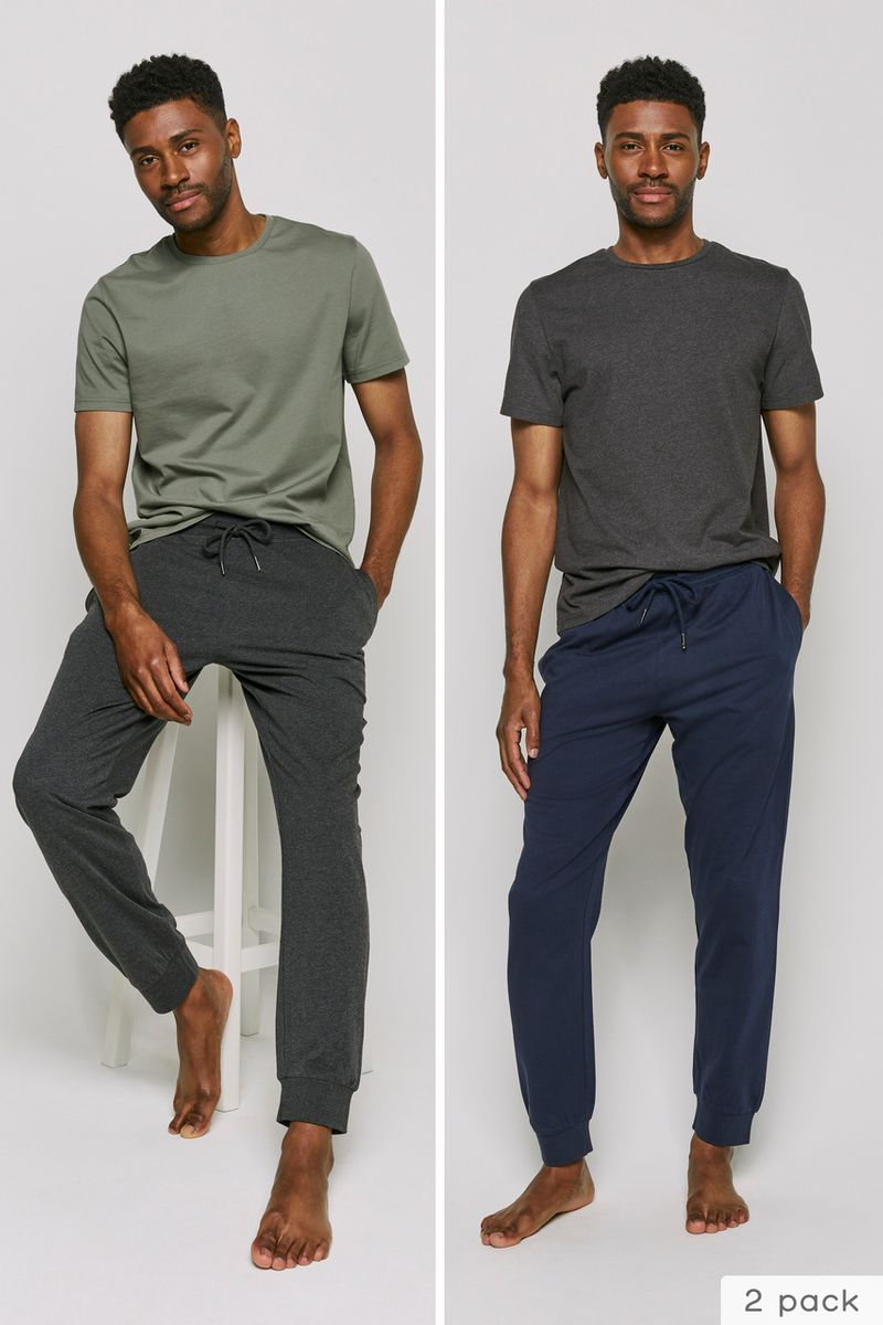 2 Pack Navy & Grey Joggers