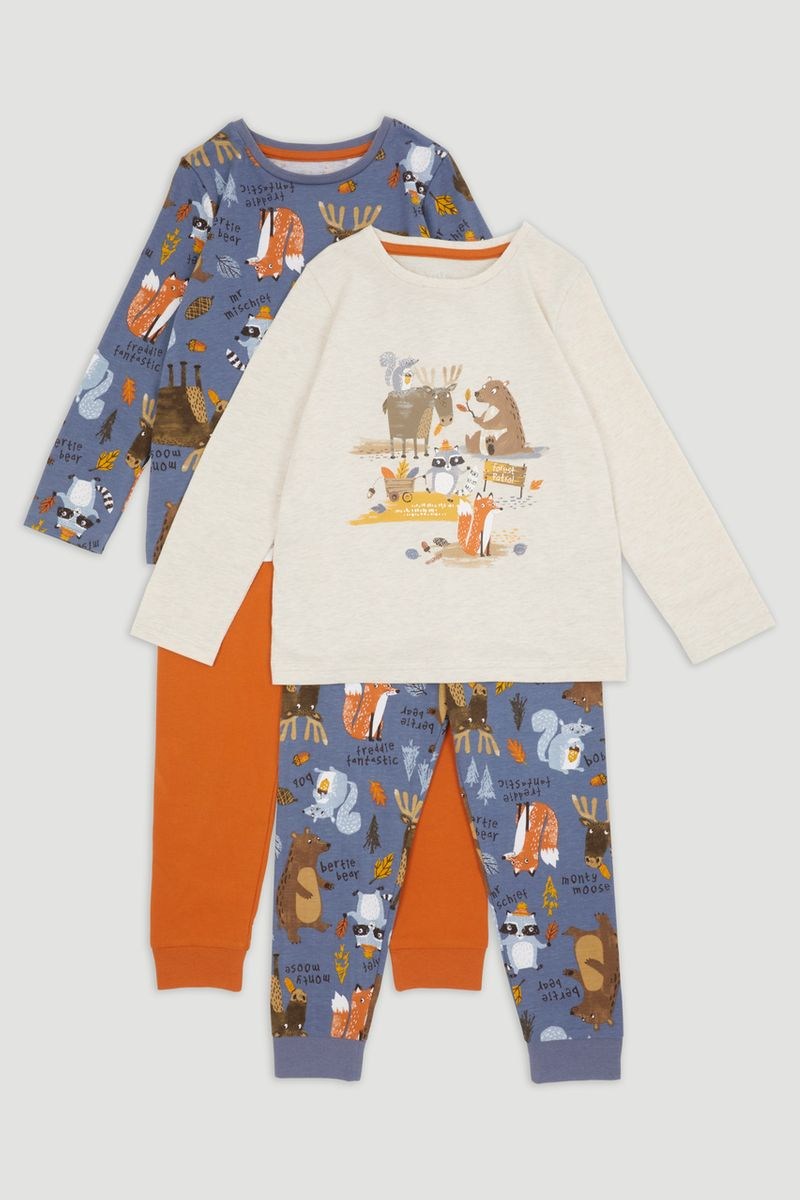 2 Pack Bear Pyjamas