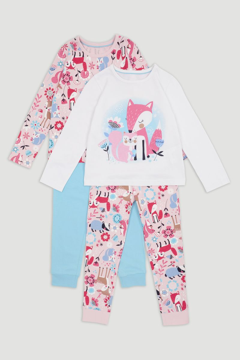 2 Pack Woodland Animal Pyjamas