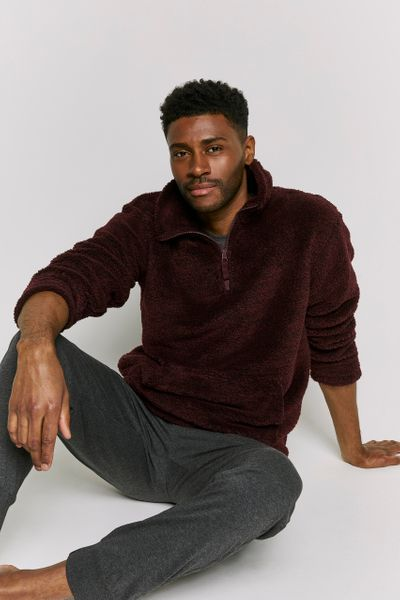 Overhead Burgundy Fleece jumper
