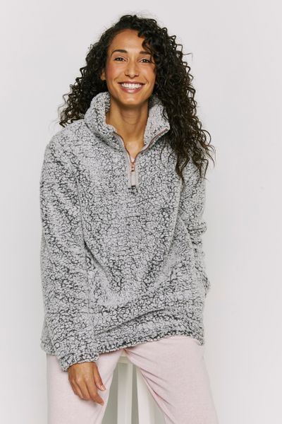 Grey Zip Fleece Jumper