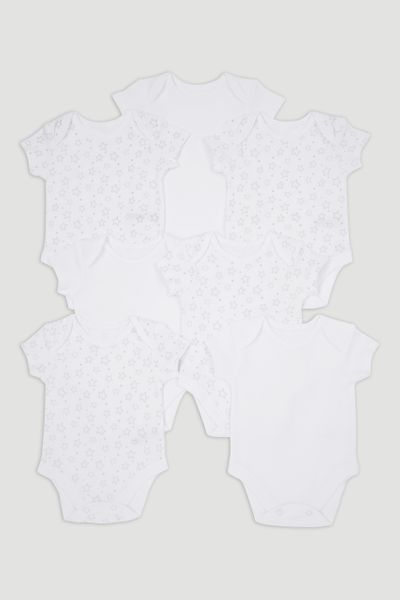 7 Pack Star Bodysuits