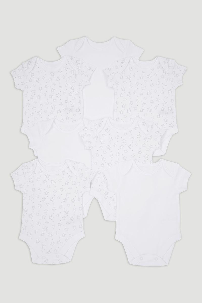 7 Pack Star Bodysuits