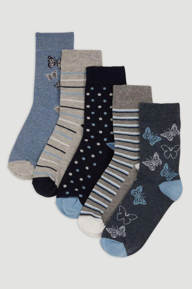 5 Pack Flexitop Butterfly socks