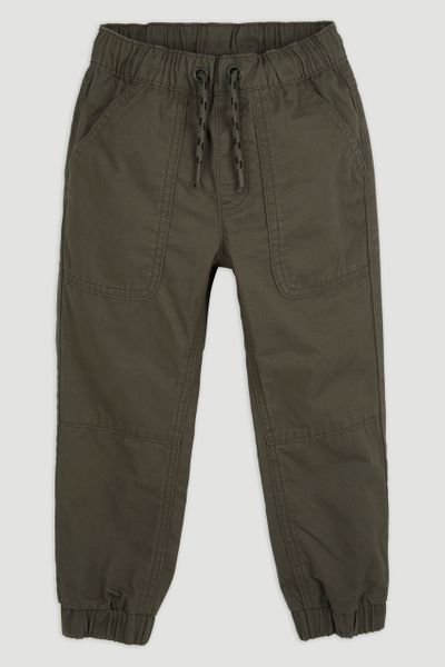 Khaki Woven Trousers