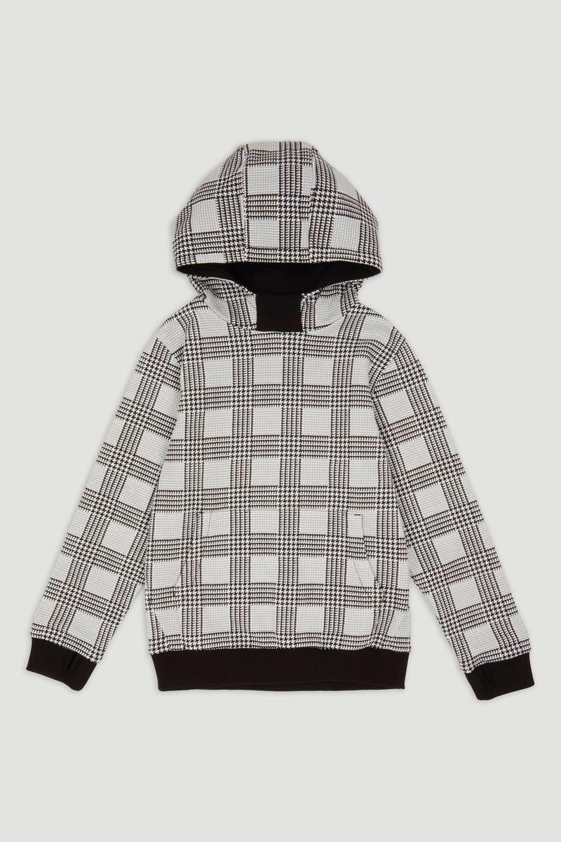 Grey Check Hoodie