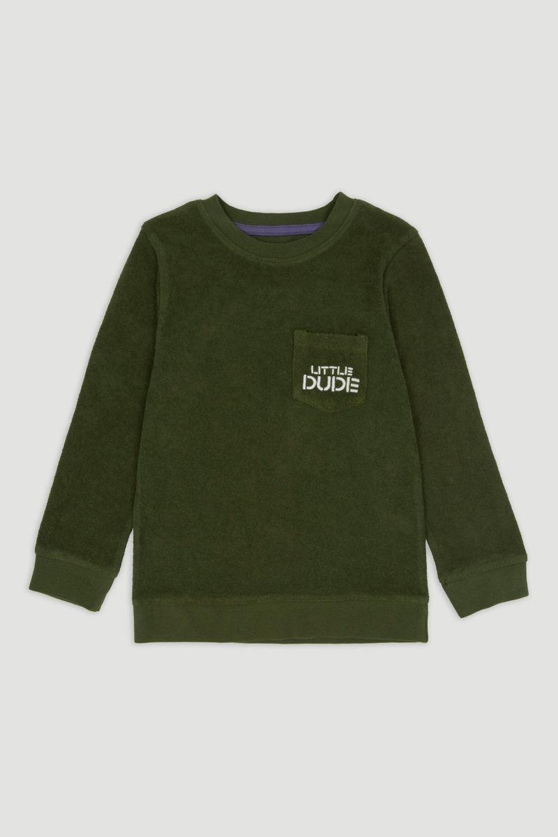 Embroidered Pocket Sweatshirt