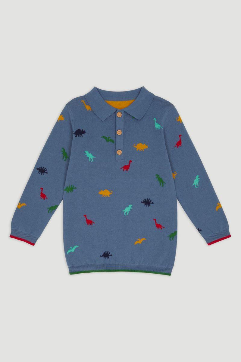 Dino Knit Polo Shirt