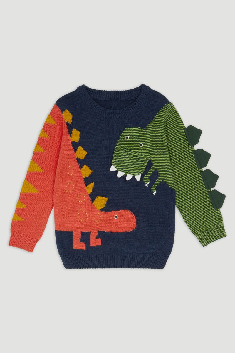 Interactive Dino Knitted Jumper