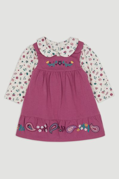 Pink Pinafore Dress set