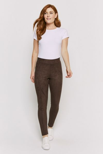 Brown Suedette Leggings