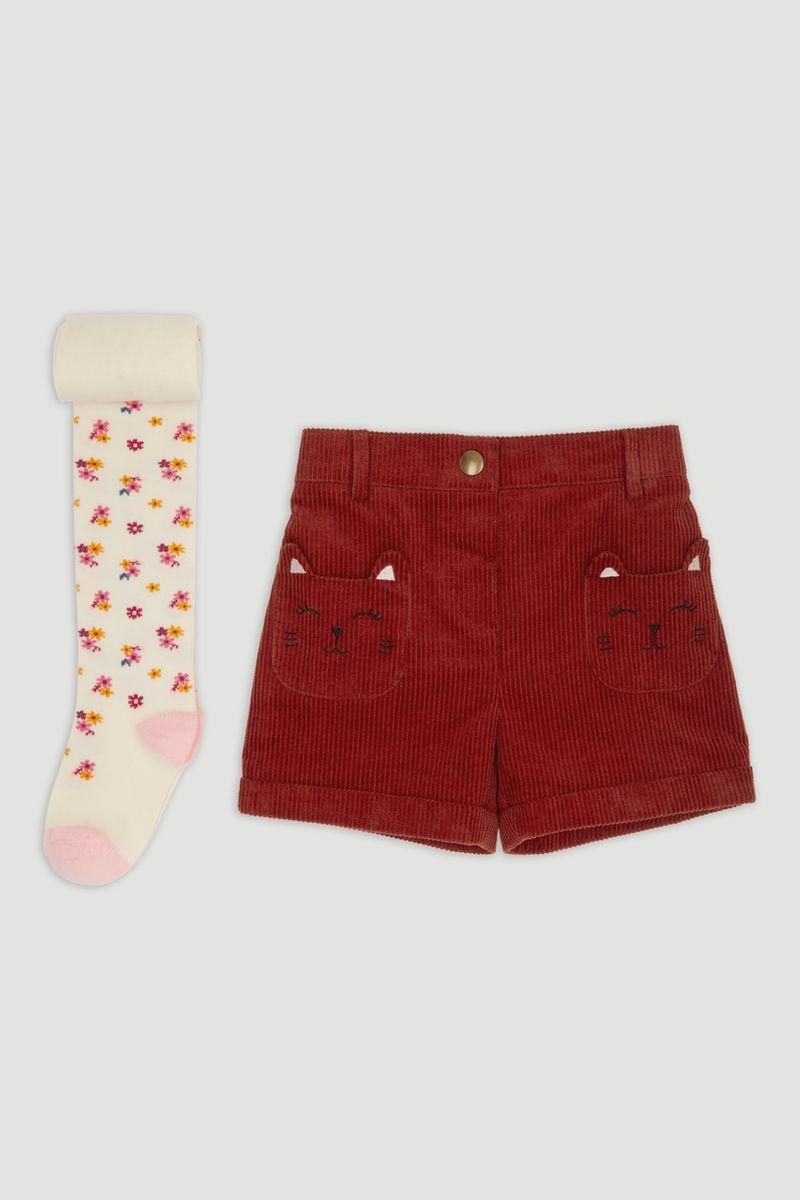 Cat Pocket Shorts & Tights