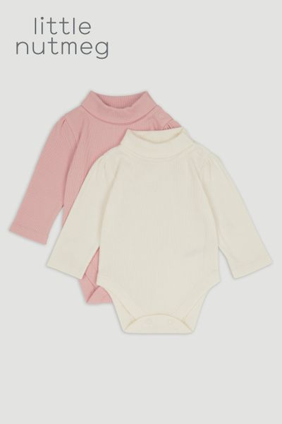Little Nutmeg 2 Pack Turtle Neck Bodysuits