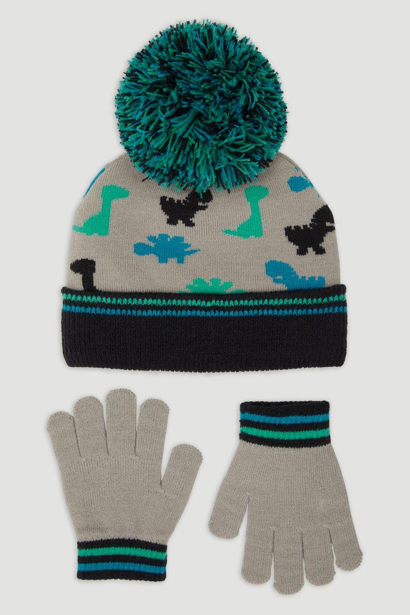 Dinosaur Hat & Gloves Set
