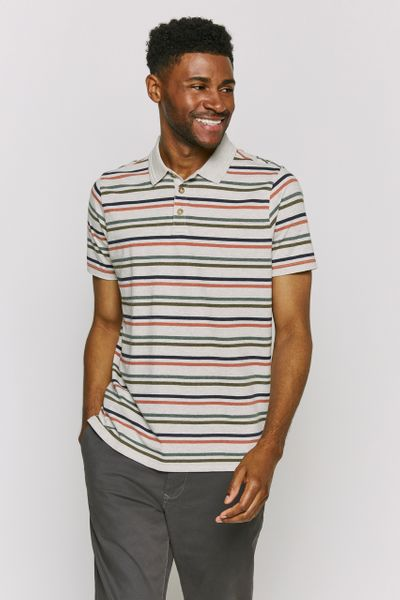 Rust stripe Polo Shirt