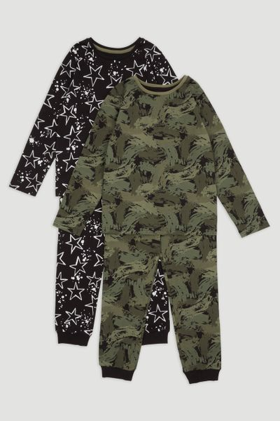 2 Pack Camo Star Pyjamas