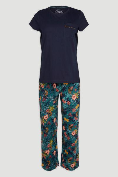 Navy & Floral Pyjamas