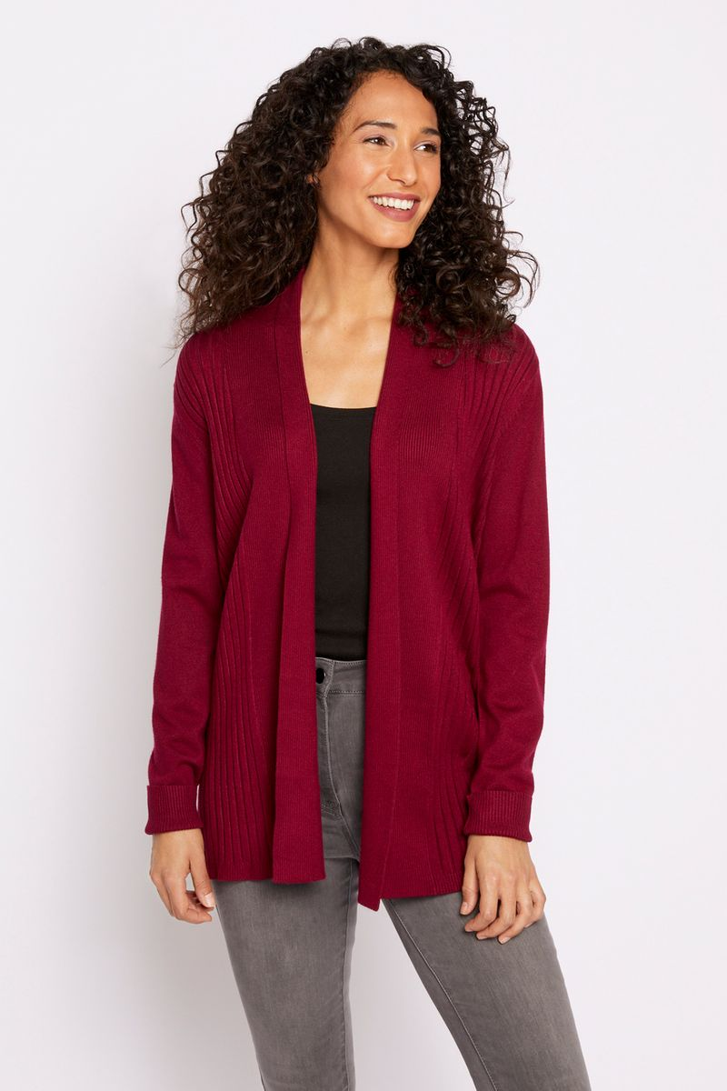 Berry Edge to Edge Cardigan