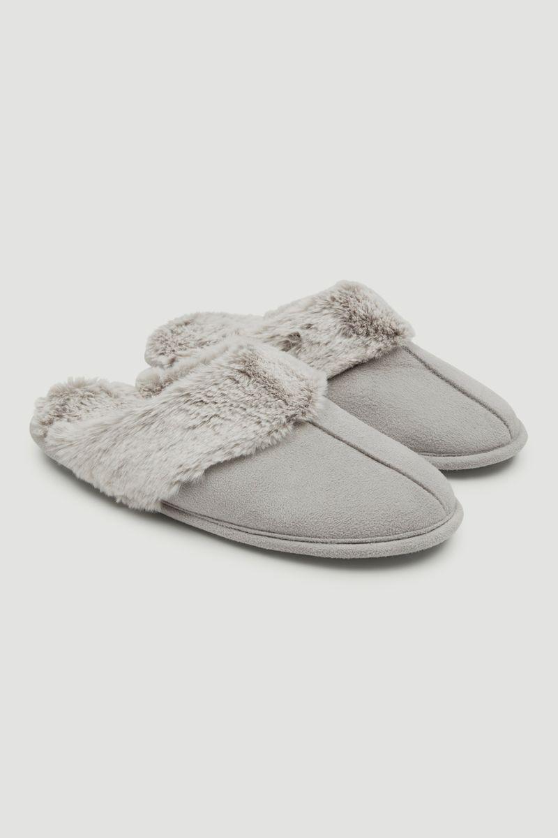 Grey Fur Mule