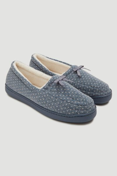 Dotty Blue Comfort Slippers