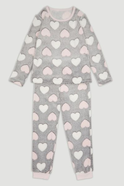 Embossed Heart Pyjamas