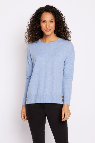 Blue Button Detail Jumper