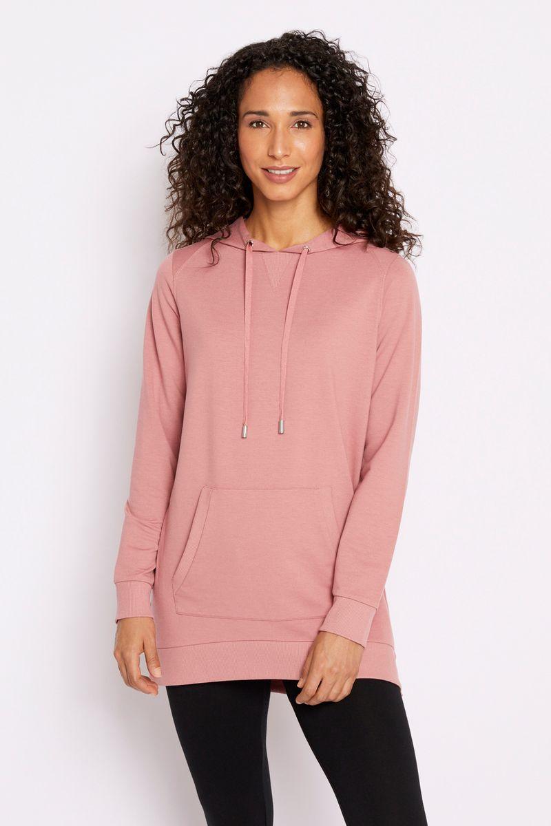 Long Length Pink Hoodie